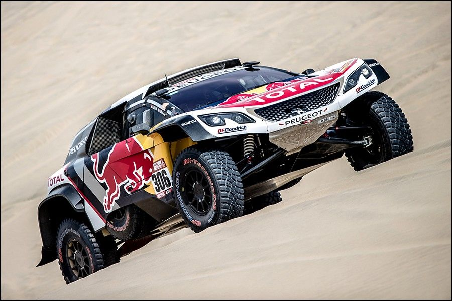 loeb au d part du dakar 2019 avec une peugeot 3008 dkr ph sport. Black Bedroom Furniture Sets. Home Design Ideas